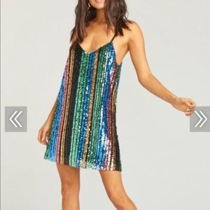 Show Me Your Mumu Multi Color Sparkle Dress